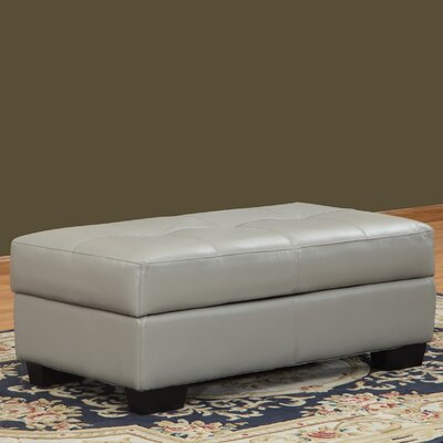 Frandis Leather Storage Ottoman by Lazzaro Leather