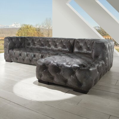 Manhattan Leather Sectional by Lazzaro Leather