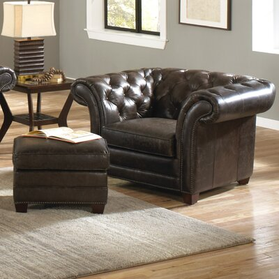 Victoria Leather Arm Chair by Lazzaro Leather