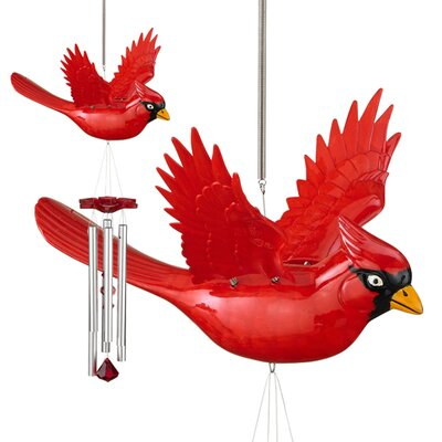 Exhart WindyWings Cardinal Wind Chime