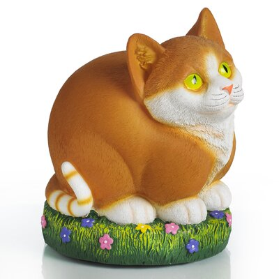 Glow Anywhere LED Cat Statue by Exhart
