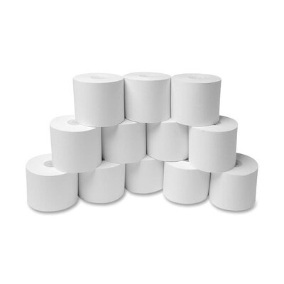 "Sparco Products Adding Machine Rolls, 2-1/4""x150', 12/PK, White"