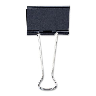 "Sparco Products Medium Binder Clip, 1-1/4""Wide, 5/8"" Capacity, 12/BX, Black"