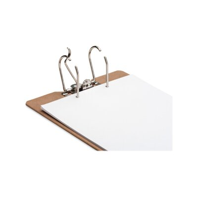"Sparco Products Clipboard, Silver Arch w/ Lever, 2-1/2"" Cap., 9""x14-1/2"", Brown"