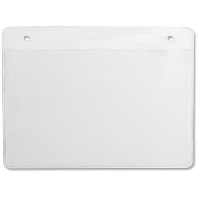 """Sparco Products Name Badges, Hanging Style, 3""""x4"""", 50/BX, Plain White"""