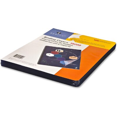 """Sparco Products Presentation Cover, 11-1/4""""x8-3/4"""", 100 per Pack, Clear"""