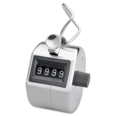 Sparco Products Tally Counter w/ Finger Ring, Silver