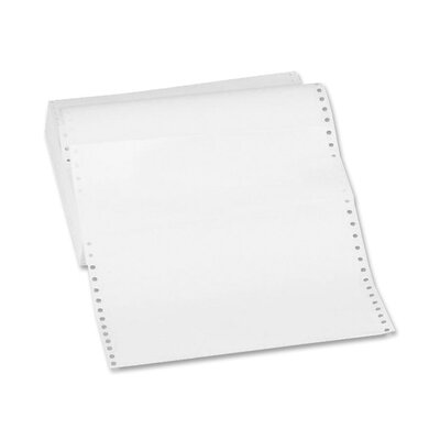 "Sparco Products Computer Paper, Plain, 20 lb., 9-1/2""x11"", 2550 Sheets/Carton, White"