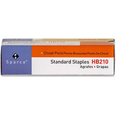 """Sparco Products Standard Staples, Chisel Point, 1/2"""" W, 1/4""""L, 210 Strip"""