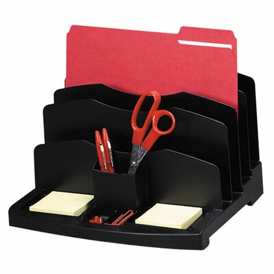"""Sparco Products Smart Sorter, 9 Compartments, 10-3/8""""x13-5/8""""x8-7/8"""", BK"""