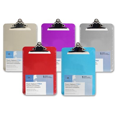 """Sparco Products Transparent Plastic Clipboard, 9""""x12-1/2"""""""