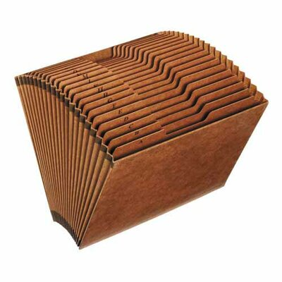 "Sparco Products Accordion Files, No-Flap, 31 Pckts, 1-31, Letter, 12""x10"", Brown"