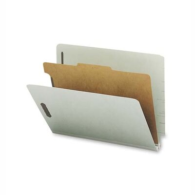 Sparco Products Classification Folder, w/ 1 Divider, Letter, 10/BX, Gray