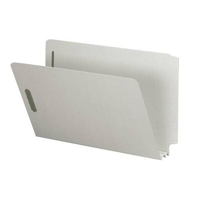 """Sparco Products End Tab Pressboard Fastener Folder, 2"""" Exp, Legal, 25/BX, Gray"""