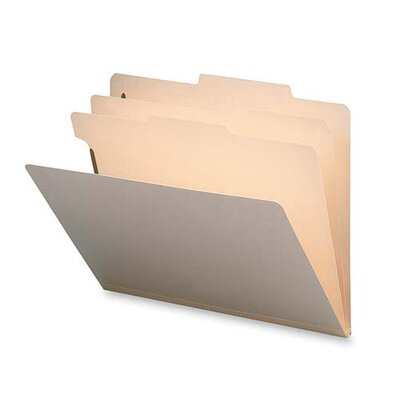 Sparco Products Classification Folder, 2 Dividers, Letter, 10/BX, Manila