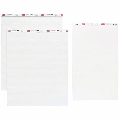 "Sparco Products Standard Easel Pad, 1"" Ruled, 27""x34"", 50 Shts, 2/CT, White"