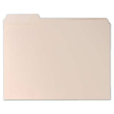 Sparco Products File Folders,11 Pnt,1/3 Cut Assorted Tab,Letter,100 per Box,Manila