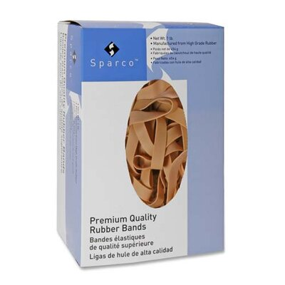 """Sparco Products Rubber Bands,1/4 lb.,Approx. 106 per Box,Size 64,3-1/2""""x1/4"""",Natural"""