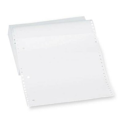 "Sparco Products Computer Paper, Plain, 20 lb., 9-1/2""x11"", 2300 Sheets/Carton, White"