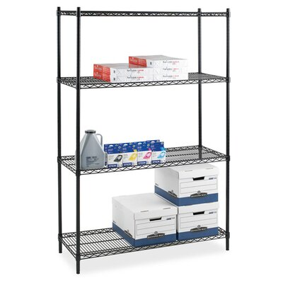 """Lorell 2-Extra Industrial Wire Shelves, 36"""" x 24"""", Black"""