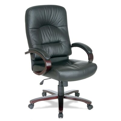 High-Back Woodbridge Series Leather Executive Chair by Lorell