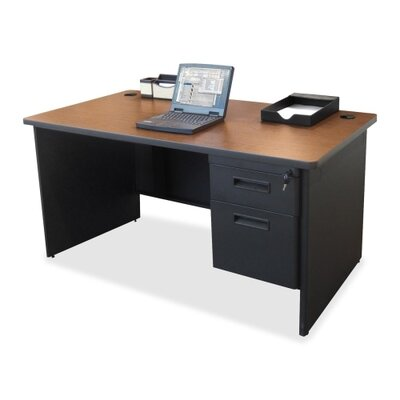 Executive Desk with Single Pedestal by Lorell