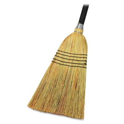 "Genuine Joe Lobby Blend Broom, 11"" W, 56"" Handle, Natural"