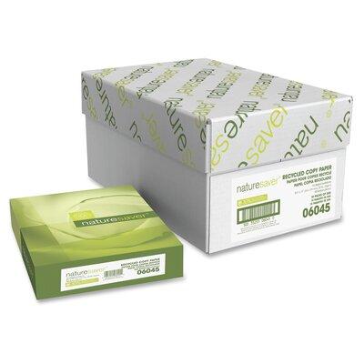 "Nature Saver Recycled 92 Bright Paper, White, 20 lb., 92 Brightness, 8-1/2""x14"""