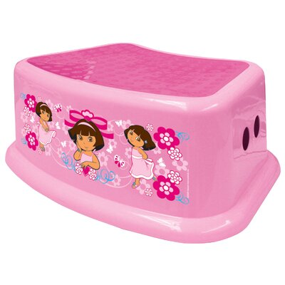1-Step Plastic Nickelodeon Dora the Explorer Step Stool with 200 lb. Load Capacity by Ginsey ...