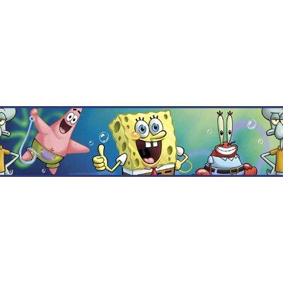 """Room Mates Nickelodeon SpongeBob SquarePants 15' x 5"""" Border Wallpaper"""