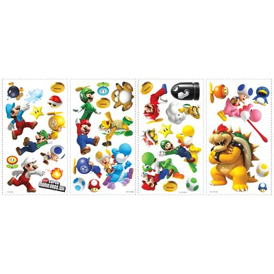 Popular Characters Super Mario Bros. Wii Wall Decal by Room Mates