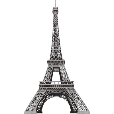 Room Mates Deco 13 Piece Eiffel Tower Giant Wall Decal