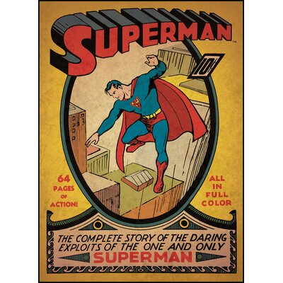 Superman Issue No. 1 Comic Book Cover Wall Decal by Room Mates