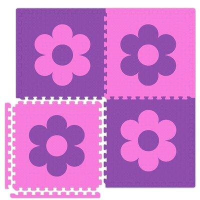 Alessco Inc. Economy SoftFloors Flower Set in Pink / Purple