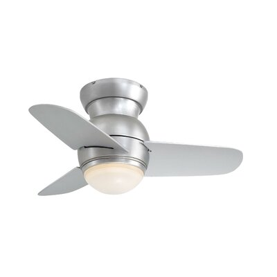 """26"""" Spacesaver Flush Mount 3 Blade Ceiling Fan Product Photo"""