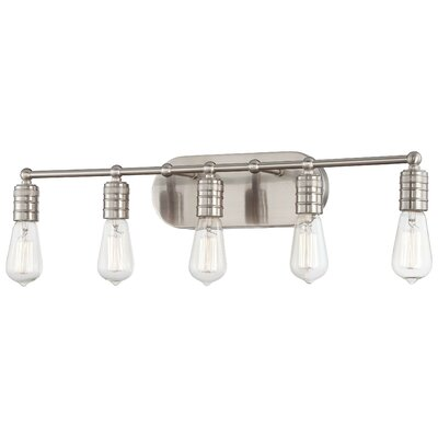 Downtown Edison 5 Light Bath Vanity Light Product Photo
