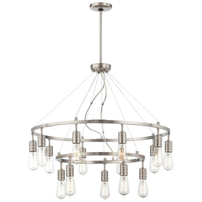 Downtown Edison 15 Light Chandelier Product Photo