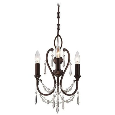 3 Light Candle Chandelier Product Photo