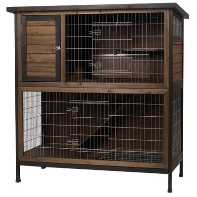 2 Story Rabbit Hutch Furniture Made in USA 48 inch wide