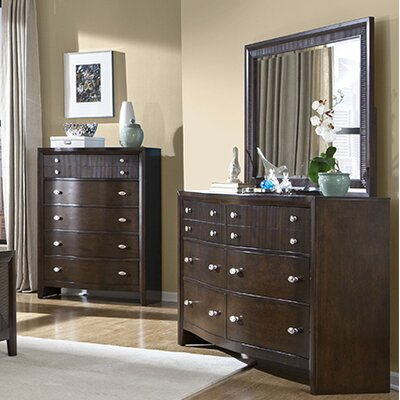 8 Drawer Dresser with Mirror by InRoom Designs