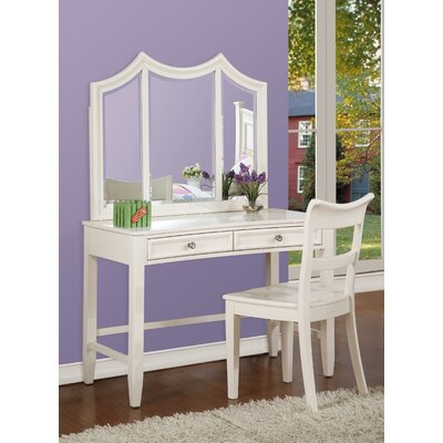 InRoom Designs Lauren Vanity Set with Mirror InRoom Designs