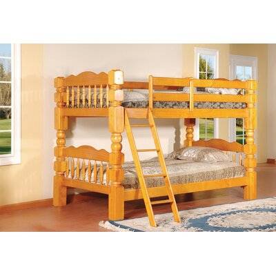InRoom Designs InRoom Twin Bunk Bed with Built-In Ladder B127C B127H