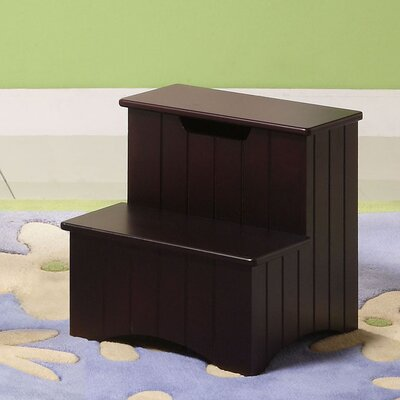 InRoom Designs 2-Step Manufactured Wood Storage Step Stool with 200 lb. Load Capacity