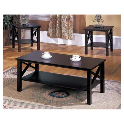 Andover mills 3 piece coffee table set reviews wayfair for 3 piece living room table sets