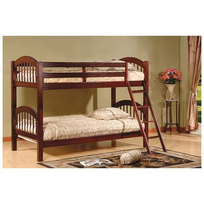 InRoom Designs Twin Arched Bunk Bed with Built-In Ladder B125C B125H