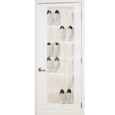 Household Essentials Storage & Organization 24 Pocket Over the Door Shoe Organizer