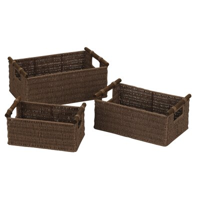 Paper Rope Baskets (Set of 3) by Household Essentials