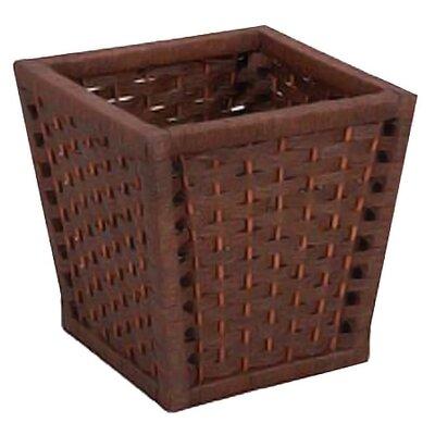 Wicker Waste Basket by Household Essentials