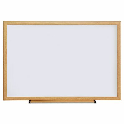 Universal Oak Frame Dry-Erase Wall Mounted Whiteboard