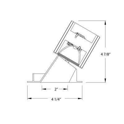 """WAC Lighting Downlight Wall Washer Square 2"""" Recessed Trim with Lens"""